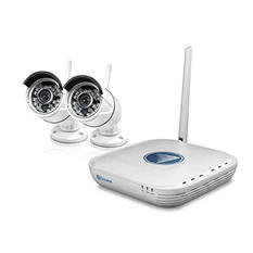 Swann 4 Channel 720p Wireless Security System with 2 720p Cameras, 500GB Hard Drive, and 50' Night Vision
