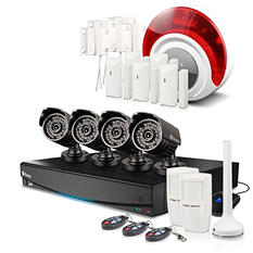 Swann 8 Channel 960H Security System with 1TB Hard Drive, 4 720TVL Cameras, Alarm Sensors, and 82' Night Vision