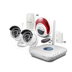 Swann 4 Channel Wireless Security System with 500GB Hard Drive, 2 720p Cameras,  Alarm Sensors, and 50' Night Vison