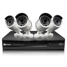 Swann 8 Channel 1080p HD IP NVR Security System with 4 3MP Cameras, 2TB Hard Drive, and 100' Night Vision