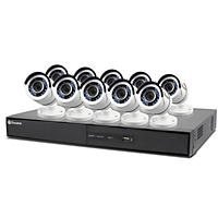 Swann 16 Channel 1080p HD DVR Surveillance System with 10 1080p HD Cameras, 2TB Hard Drive, and 100' Night Vision