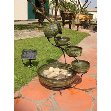 Bamboo Ceramic Solar Cascade