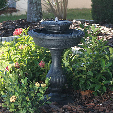 Blenheim 2-Tier Solar-on-Demand Fountain