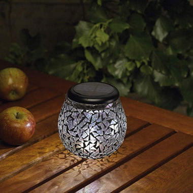 Obsidian Solar Mosaic Glass Light by Smart Solar