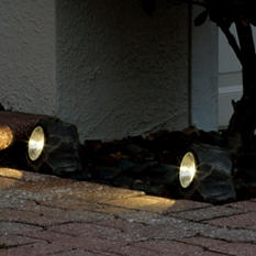 Solar Rock Light - white LED