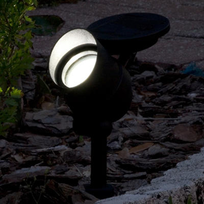 Equinox Aluminum Solar Spotlight with Retractable Solar Panel