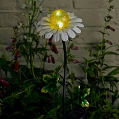 Metal Daisy Solar Stake Light