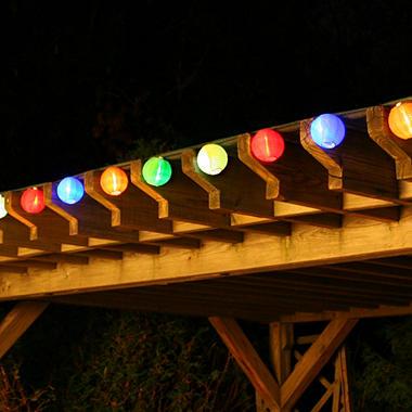 20 LED Solar String Lights - Chinese Lanterns