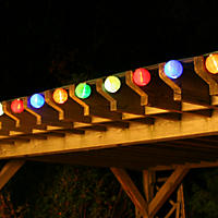 20 LED Solar String Lights - Chinese Lanterns