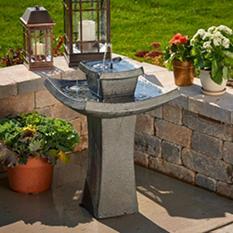 Mahayana 2-Tier Solar-On-Demand Fountain