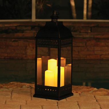 San Nicola Triple Led Candle Lantern Bronze 28 25 Quot Tall