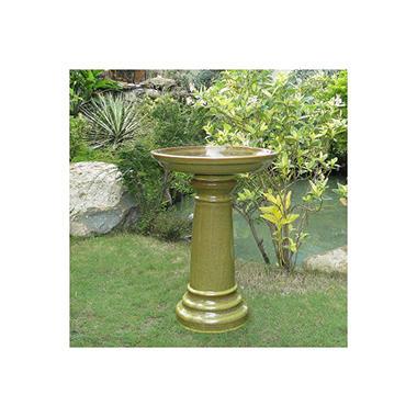 Aviatra Ceramic Birdbath - Sierra Garden