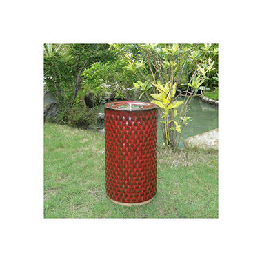 Apollo Ceramic Fire Pot -  Red Lava