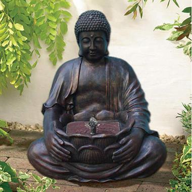 Buddha Solar-On-Demand Fountain