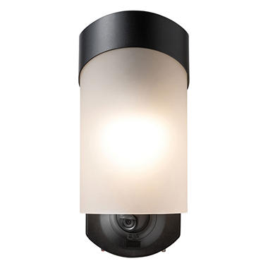 Maximus Contemporary Smart Security Light Textured Black