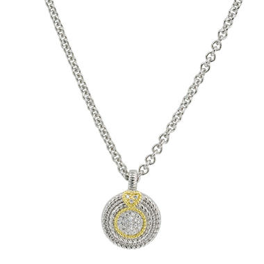 Judith Ripka Pave Diamond Circle Necklace (I, I1)