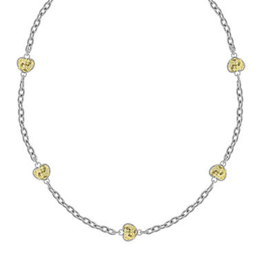 Judith Ripka Canary Crystal Five-Heart Necklace