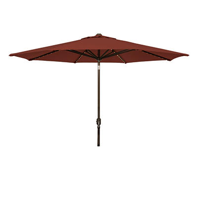 Lighted Market Umbrella - 11' - Henna