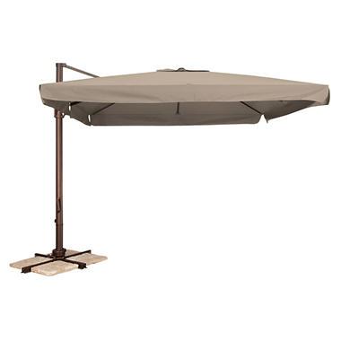 Naples 10' Square Side Post Umbrella - Beige
