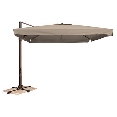 Naples 10' Square Side Post Umbrella - Beige