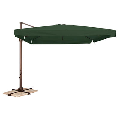 Naples 10' Square Side Post Umbrella - Green