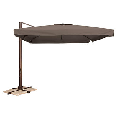 Naples 10' Square Side Post Umbrella - Taupe