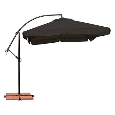 Capri 8' x 8' Side Post Umbrella - Black