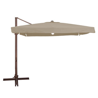 Naples Plus 10' Square Lighted Side Post Umbrella-Multiple Colors Available