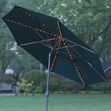 Lighted Market Umbrella - 11 ft. - Green