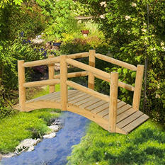 Sunjoy Woodman Wood Garden Bridge