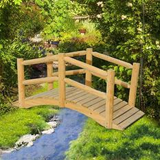 Sunjoy Woodman Wood Garden Bridge