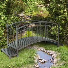 Sunjoy Chantel Steel Garden Bridge