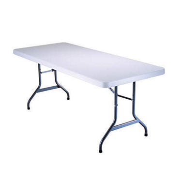 Lifetime 6' Folding Utility Table - White Granite
