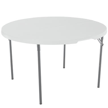 "Lifetime Round Fold-in-Half Table - 48"" - White"