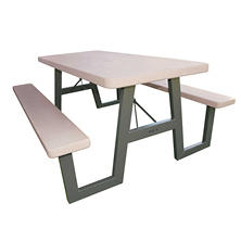 Lifetime 6' W-Frame Folding Picnic Table - Putty
