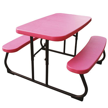 "Lifetime 32.5"" Kids Folding Picnic Table - Pink"