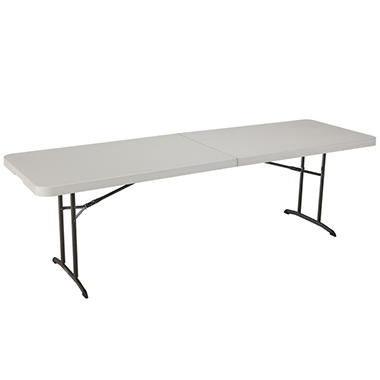 Lifetime 8' Fold-in-Half Commercial Grade Table, Almond