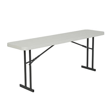 Lifetime Folding Seminar Table - 6' - White Granite