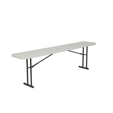 Lifetime 8' Seminar Folding Table, White Granite (Select Quantity)