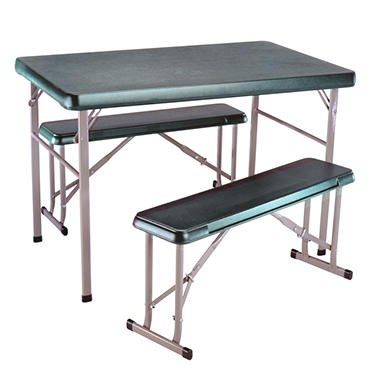 Lifetime� Sport Table with 2 Benches - Hunter Green