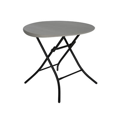 "Lifetime Round Folding Table - 33"" - Putty"