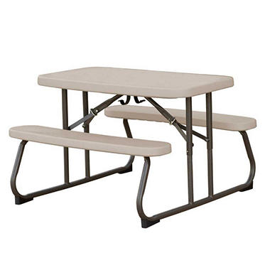 "Lifetime 32.5"" Kids Folding Picnic Table - Putty"