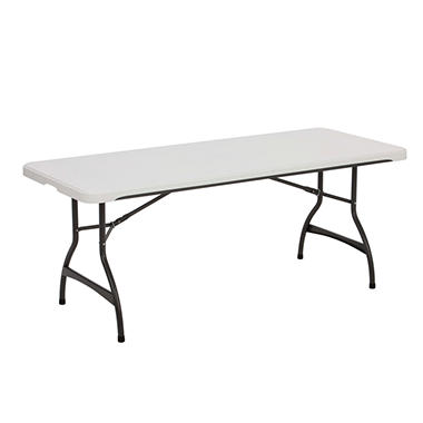Lifetime 6' Commercial Grade Nesting Table - White Granite