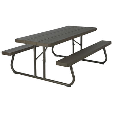 Lifetime 6-Foot Brown Picnic Table - Sam's Club