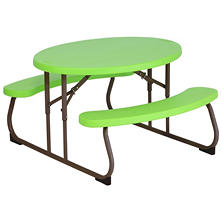 Lifetime Children's Oval Picnic Table (Green)