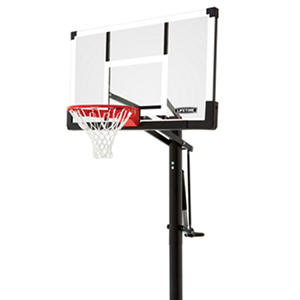 "Lifetime In-Ground 54"" Tempered Competition Basketball System"