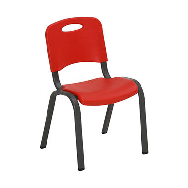 Lifetime Children s Stack Chair Fire Red or Dragonfly