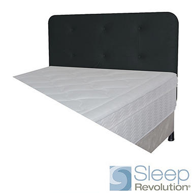 Black Faux Suede Padded Headboard - Twin