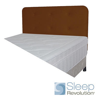 Chocolate Faux Suede Padded Headboard - Full