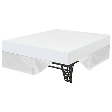 "Night Therapy 8"" Memory Foam Mattress and Bed Frame Set - Full - 3 pk"
